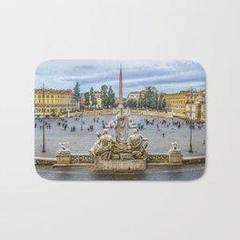 Piazza del Popolo, Rome, Italy Bath Mat