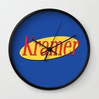 seinfeld Wall Clocks featuring Kramer  - Seinfeld by Uhm.
