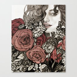 floral greetings Canvas Print