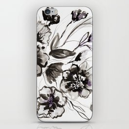 Ink Flowers iPhone Skin