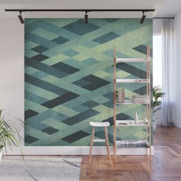 Abstract Pattern in Blue Wall Mural