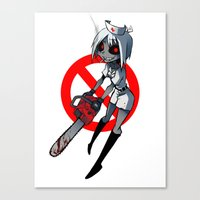 nurse Canvas Prints featuring Nurse by M-chi