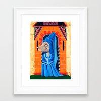 federico babina Framed Art Prints featuring La fata - L'Epoca di Federico II by Francesca Cosanti