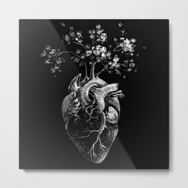 Peace of Heart - Anatomical Heart Illustration Metal Print