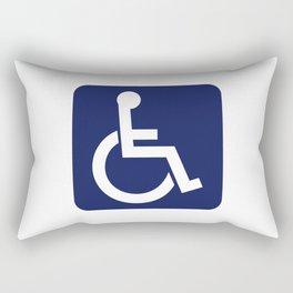 Disabled Symbol Rectangular Pillow