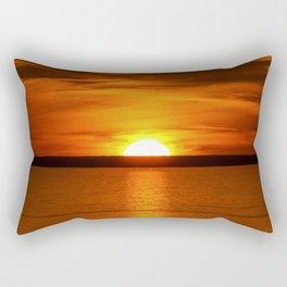 Red Sunset over Lake Superior Rectangular Pillow
