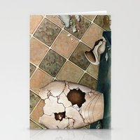 broken Stationery Cards featuring broken by Andreas Derebucha