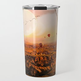 Swinging with Balloons by GEN Z Travel Mug
