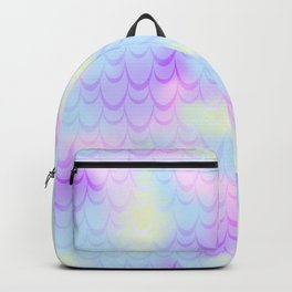 Pastel Blue Mermaid Tail Abstraction. Magic Fish Scale Pattern Backpack
