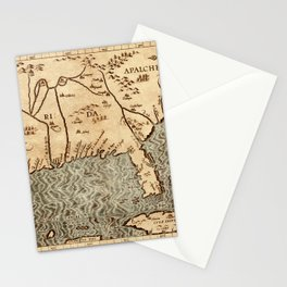 Map Of Florida 1597 Stationery Cards