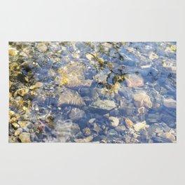 Underwater Mountain River Rocks Rug