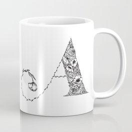 Floral Letter A Coffee Mug