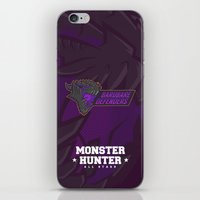 monster hunter iPhone & iPod Skins featuring Monster Hunter All Stars - BD by Bleached ink