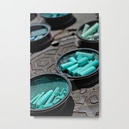 Turquoise Chalk Metal Print
