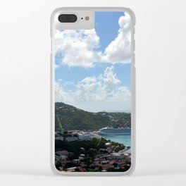 Overlooking the Port at Charlotte Amalie Clear iPhone Case