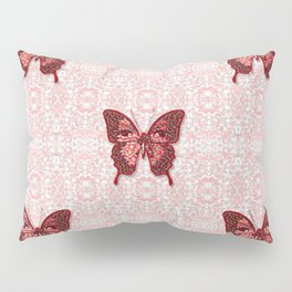 Peppermint Candy Pattern and Butterfly Pillow Sham