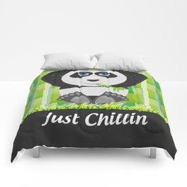 Panda Chillin Comforters