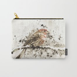 House Finch Splatter Carry-All Pouch