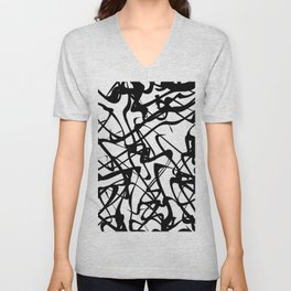 smooth black loops Unisex V-Neck