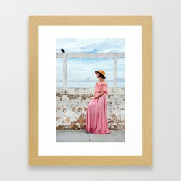 Woman in pink Framed Art Print