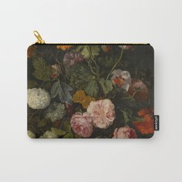 "Cornelis Kick ""A still life with parrot tulips, poppies, roses, snow balls, and other flowers"" Carry-All Pouch"
