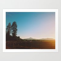 Black Butte Art Print