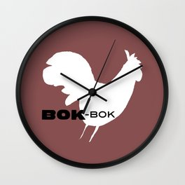 Bok-Bok, Kitchen Rooster from 'Winter Things' Series Wall Clock