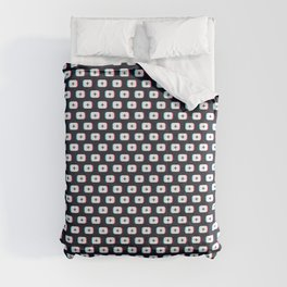 TikTok app button. Pattern design - Dark version Comforters
