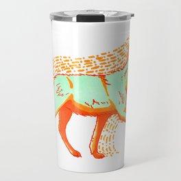 Psychadelic Coyote Travel Mug