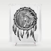 dream catcher Shower Curtains featuring Dream Catcher by Astrablink7