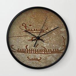 Pictogram at Vitlycke, Sweden 2 Wall Clock