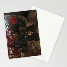 Cemetery Red Stationery Cards