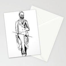 MENBEARD VS MENRAPPEUR Stationery Cards