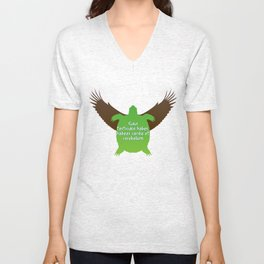 ...their hearts and minds will follow. Unisex V-Neck