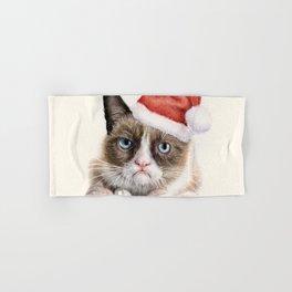 Santa Cat Hand & Bath Towel