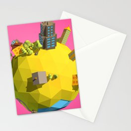 Low Poly Earth 6 Stationery Cards