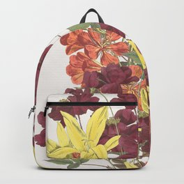 Bouquet of Rose, Freesia and Gladiolus Backpack