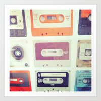 cassette tapes Art Print
