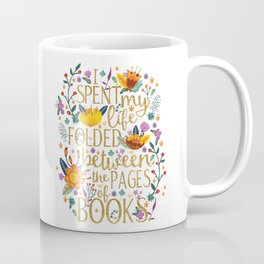 Folded Between the Pages of Books - Floral Coffee Mug
