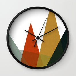 Simple and minimalist landscape III Wall Clock