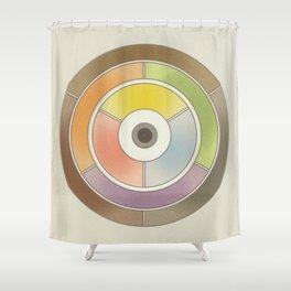 The theory of colouring - Diagram of colour by J. Bacon, 1866, Remake, vintage wash (no text) Shower Curtain