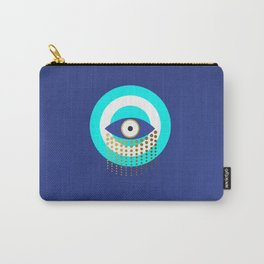 Blue Evil Eye tears of protection Carry-All Pouch