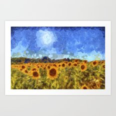 The Sunflowers Van Gogh Art Print