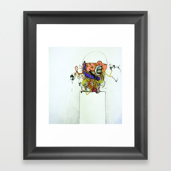 Contents Under Pressure Framed Art Print