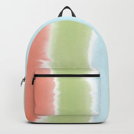 Pastel Watercolor Stripes Backpack