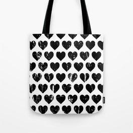 Hearts Pattern   Minimalism   Black-and-White   Modern   Love Tote Bag