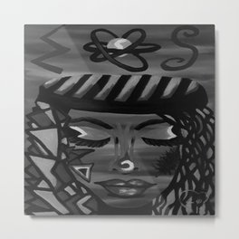 Focus by Lu, black-and-white Metal Print