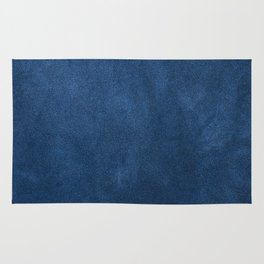 Blue leather texture Rug