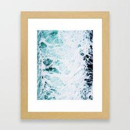 Water, Sea, Ocean, Wave, Blue, Nature, Modern art, Art, Minimal, Wall art Art Print Framed Art Print