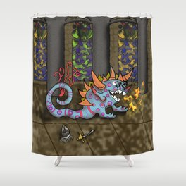 The Doodlethwumpus Beastie Shower Curtain